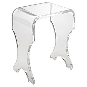 "Hayes 13"" Acrylic Bench, Clear, Acrylic / Lucite, Ottomans"