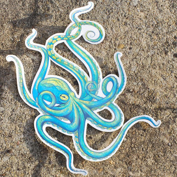 Octopus temporary Tattoo - Temporary Tattoo - Octopus