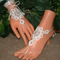 #beach #wedding #barefoot #sandals #shoes #accessories