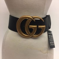Gucci GG Marmont Wide Leather Belt Sold Out $1190 Ca Size 80
