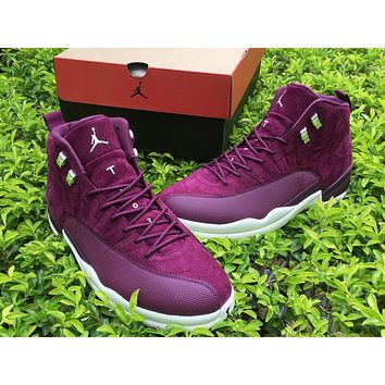 Air Jordan Retro 12 Bordeaux For Man Basketball Shoes Wine Red Trainer Sneakers Size Us 8 13 | Best Deal Online