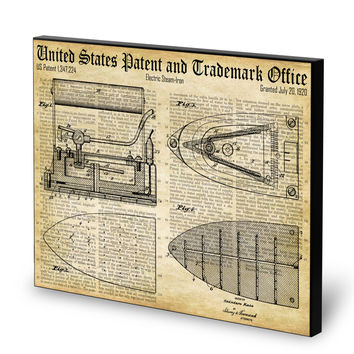 Steam Iron Patent- Historic Laundry Room Patents Series