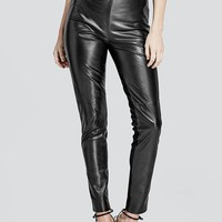 Wynter Leather Legging at Guess