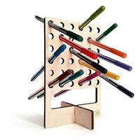 Laser cut wood,desk pen holder,penholder,pen and pencil holder,office desk accessories,modern pen holder,housewares,cool stuff,desktop