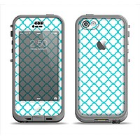 The Moracan Teal on White Apple iPhone 5c LifeProof Nuud Case Skin Set