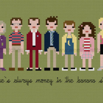 Pixel People - Arrested Development - PDF Cross-stitch Pattern - INSTANT DOWNLOAD