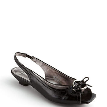 Anne Klein Jacenta Patent Leather Sling-Back Kitten  Heels
