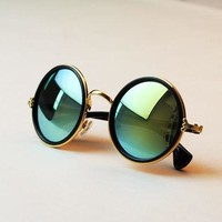 Retro  roundness colours Girls Sunglasses summer colors glasses