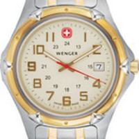 Wenger Two Tone Stainless Steel Champagne Dial Men's Watch