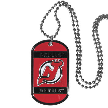 New Jersey Devils Tag Necklace