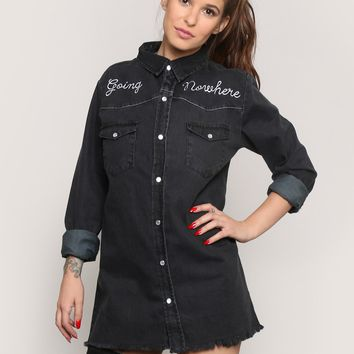 GOING NOWHERE CHAMBRAY SHIRT