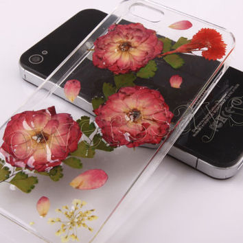 iPhone 6 case iPhone 6 plus Pressed Flower, iPhone 5/5s case, iPhone 4/4s case,  5c case Galaxy S4 S5 Note 2 note 3 Real Flower case NO:F108