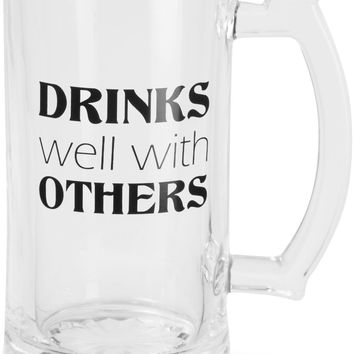 Drinks well with others Beer Mug Stein