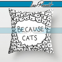 Cat Everywhere on Decorative Pillow Covers