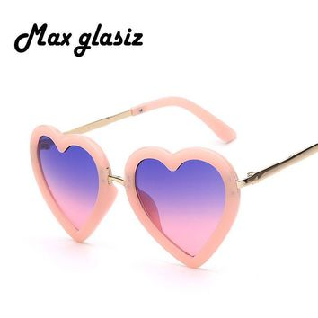 Girls Heart Shaped Sunglasses With UV 400 Protection