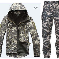 Mission Critical Camo Waterproof Hooded SoftShell Jacket and Pants