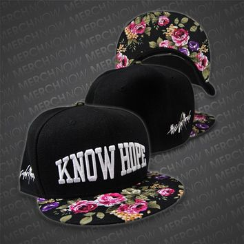 Know Hope Black w/ Floral Snapback Hat : TCMR : MerchNOW
