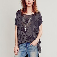 Free People Womens Pieces of My Heart Tunic - Black Combo,