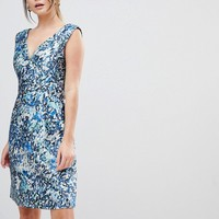 Reiss Allium Printed Floral Dress at asos.com