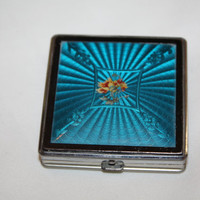 Art Deco Guilloche Enamel Purse Compact 1930 Purse Accessory