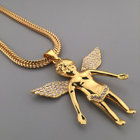 New Arrival Stylish Gift Jewelry Shiny Hot Sale Big Size Diamonds Hip-hop Club Necklace [6542761859]