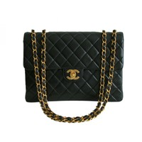 Chanel Black Lambskin Jumbo Flap Bag