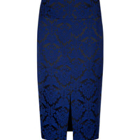 JACQUARD SUIT SKIRT - Bright Blue | Tailoring | Ted Baker ROW