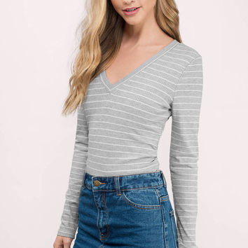 Sia Striped Crop Top