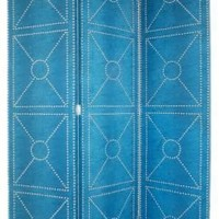 One Kings Lane - Souk Treasures - Studded Room Divider, Blue