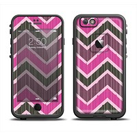 The Scratched Vintage Chevron Surface Apple iPhone 6 LifeProof Fre Case Skin Set