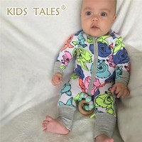1 PCS Kids tales Brand Baby Romper Long Sleeves 100% Cotton Baby Pajamas Cartoon Printed Newborn Baby Girls Boys Clothes
