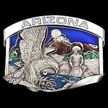 Sports Jewelry & AccessoriesSports Accessories - Arizona Eagle Enameled Belt Buckle