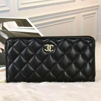 CHANEL Fashion Women Wallets Zipper Wallet Women Long Design Purse G-LLBPFSH