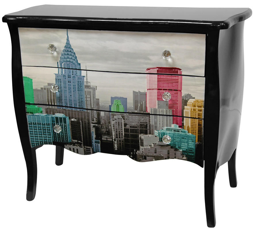 Oriental furniture lacquer colorful new from wayfair for Asian furniture nyc