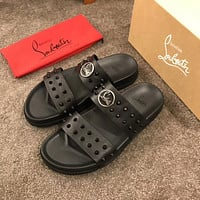 CL Christian Louboutin Men's Leather Sandals