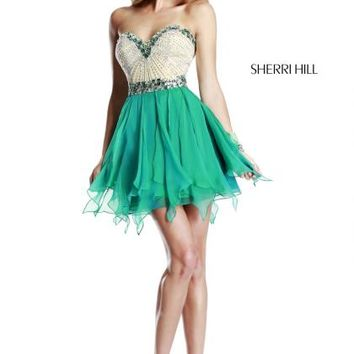 Sherri Hill Short Dress 1928 at Prom Dress Shop