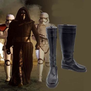 Star Wars 7 The Force Awakens Kylo Ren Cosplay Shoe Anime Halloween Party Boots Custo
