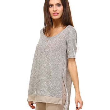 Mocha Sally Scoop Neck Tunic
