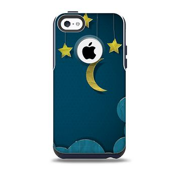 The Paper Stars and Moon Skin for the iPhone 5c OtterBox Commuter Case