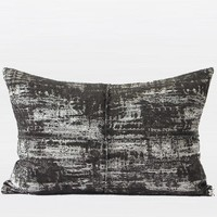 """Charcoal Mix Color Metallic Chenille Pillow 14""""X20"""""""