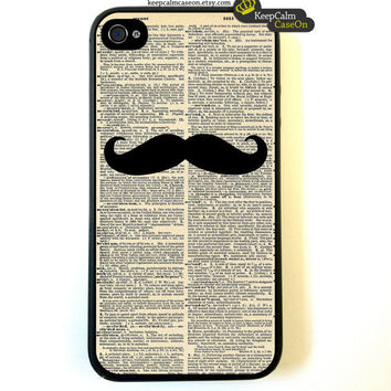 Mustache iPhone 4 Case New Hard Fitted Case For by KeepCalmCaseOn