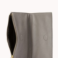 Modernist Faux Leather Clutch