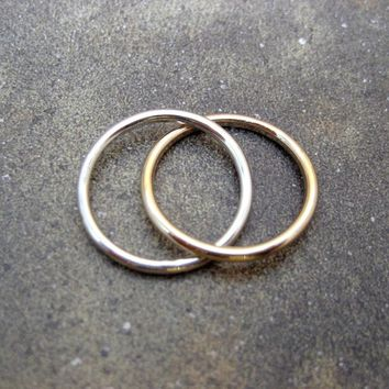 Infinity Ring - Intertwined Rolling Rings - Sterling Silver and 14K Gold Filled - Wedding Band - Best Friends - Promise Ring