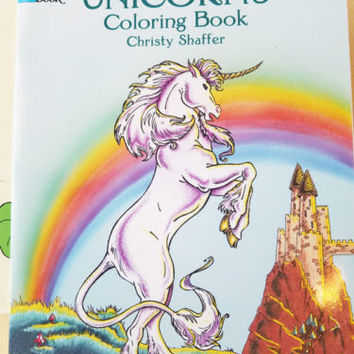 unicorns coloring book fantasy animals beasts fairy tale art 2000