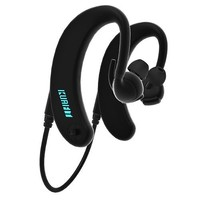 KuaiFit KU17S03 Sweatproof Sport Headphones with Heart Rate Monitor, MP3 Player, 8GB Memory, ANT+, Smart Coaching - Black