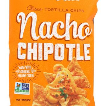 LATE JULY SNACKS: Clasico Tortilla Chips Nacho Chipotle, 5.5 Oz