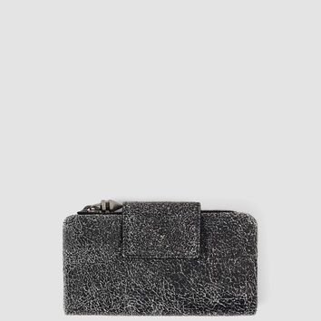 Womens Japanese Wallet/Crackle (Black Crackle) | ALLSAINTS.com