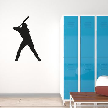 Vinyl Wall Decal Sport Baseball Man Player Home Team Interior Stickers Mural (g004)