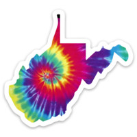 WV is Tie Dye for - Sticker