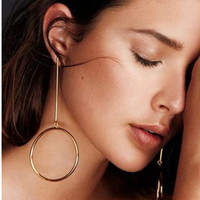 Exaggerated Personality Copper Circle Earrings